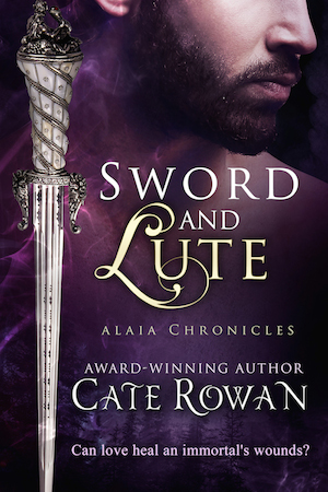 Book cover for Sword and Lute by Cate Rowan