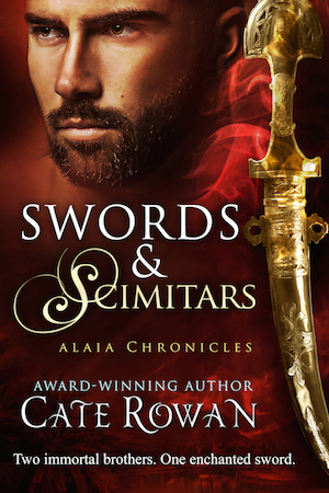 Cover of Swords and Scimitars by Cate Rowan